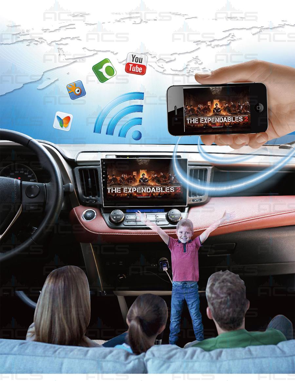 ACS-7116MA Radio 1 Din 7 Cali z DVD Android 8 CPU 8x1 6GHz Ram 2GHz Dysk  32GB Ekran HD MultiTouch OBD2 DVR DVBT BT Kam